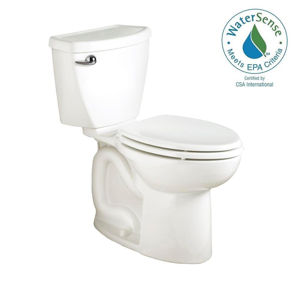 American Standard Cadet 3 PowerWash High-Efficiency 2-piece 1.28 GPF Elongated Toilet in White by American Standard