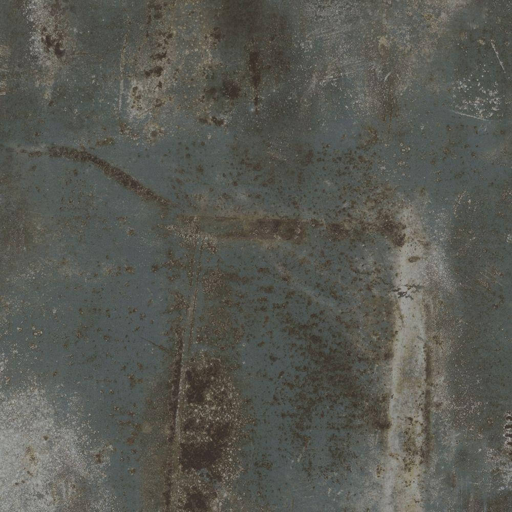 TrafficMASTER Allure Ultra Take Home Sample - Aqua Concrete Resilient Vinyl Plank Flooring - 4 in. x 4 in.