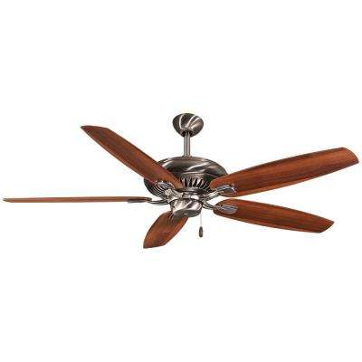 RoxHill 60 in. Indoor Pewter Ceiling Fan