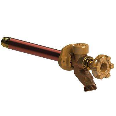 1/2 in. x 3/4 in. Brass Sweat x MPT x 8 in. L Freeze-Resistant Anti-Siphon Sillcock