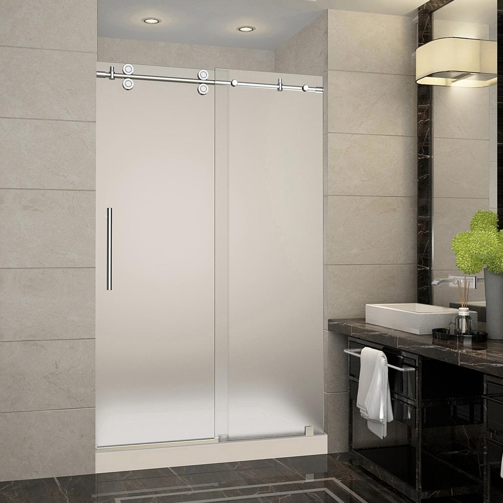 Aston Langham 48 in. x 36 in. x 77.5 in. Frameless Sliding Shower ...