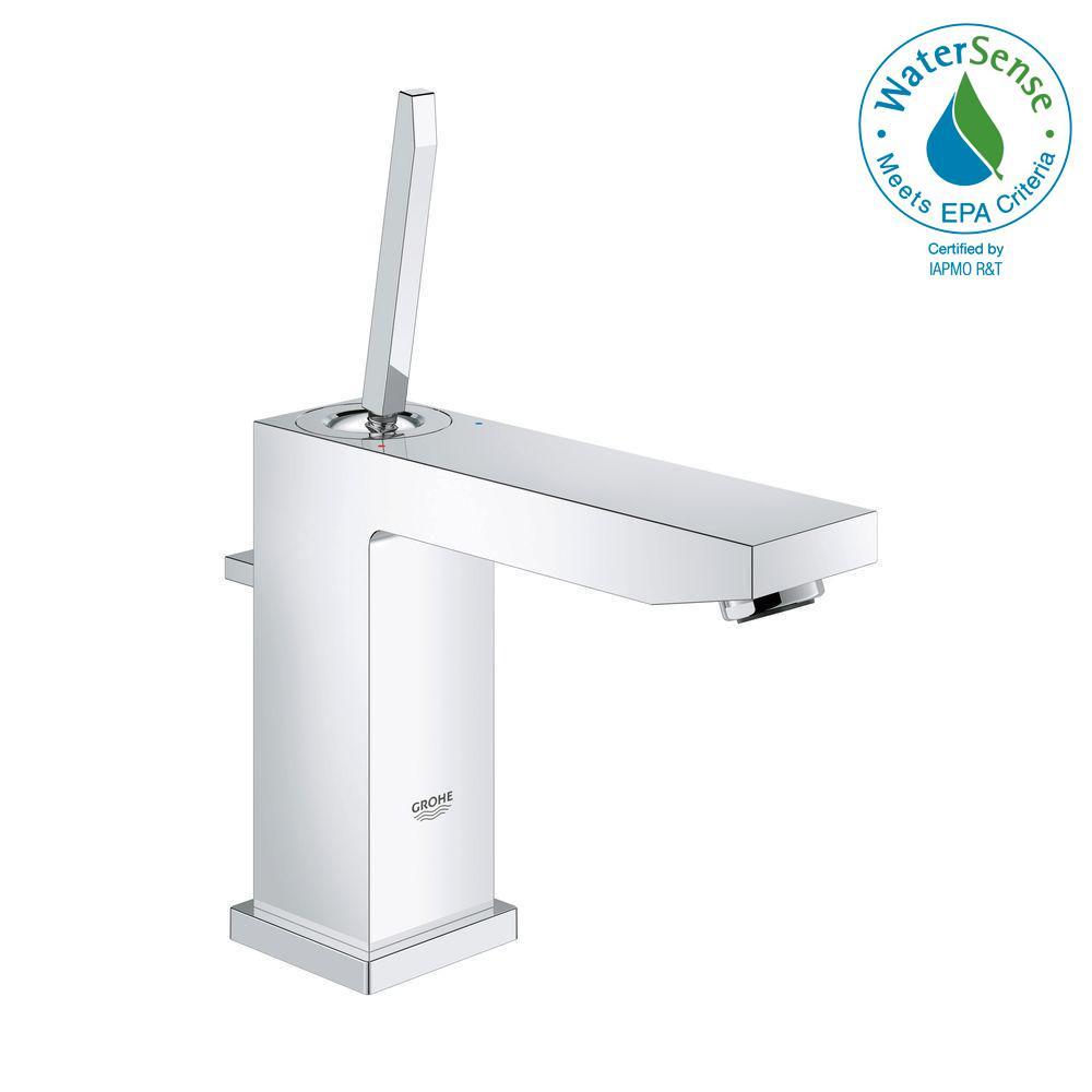 Grohe Eurocube Joy M Size Single Hole Handle Bathroom Faucet In Starlight Chrome