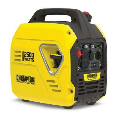 2500-Watt Recoil Start Gasoline Powered Inverter Generator with Champion 79 cc Engine