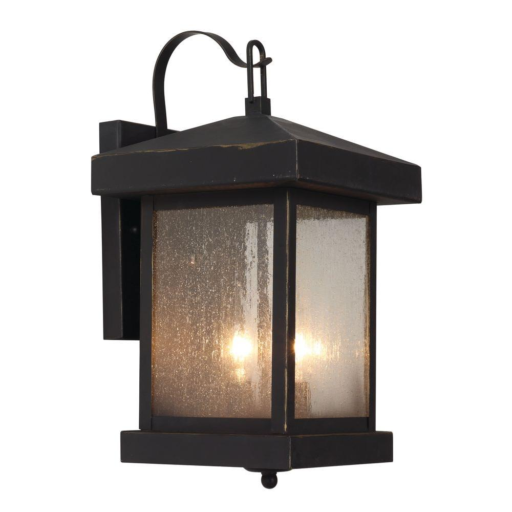 Stewart 2-Light Weather Bronze Outdoor Incandescent Wall Lantern