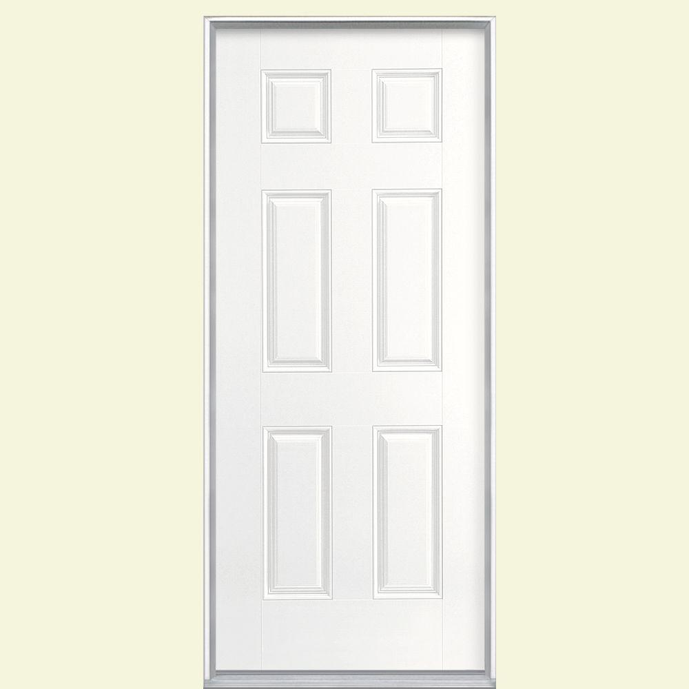 32 x 80 exterior door rough opening. masonite 36 in. x 80 6-panel right-hand inswing primed white smooth fiberglass prehung front door-87168 - the home depot 32 exterior door rough opening o