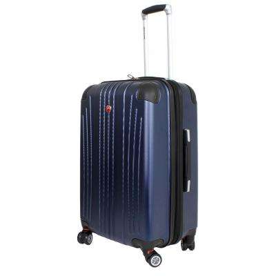 24 in. Navy Hardside Spinner Suitcase