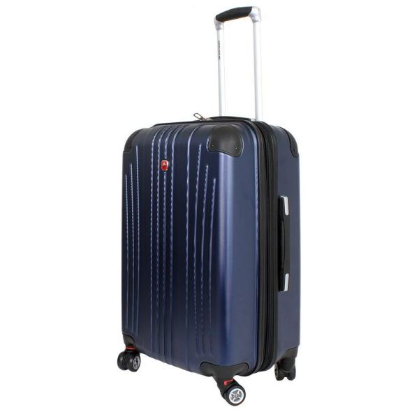 69dc8148d SWISSGEAR 24 in. Navy Hardside Spinner Suitcase 6171303167 - The ...