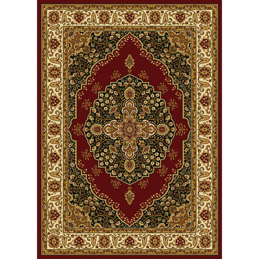 Home Dynamix Royalty Red/Ivory 5 ft. x 7 ft. Indoor Area Rug