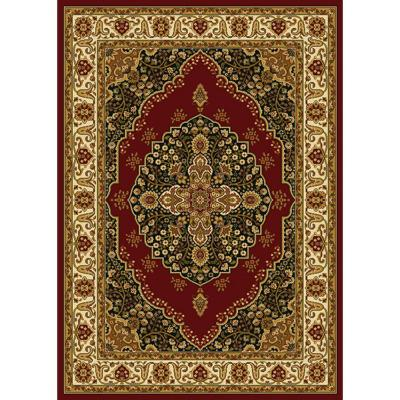 Royalty Red/Ivory 5 ft. x 7 ft. Indoor Area Rug