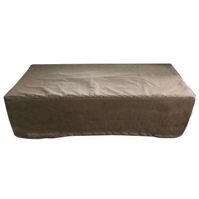 Metropolis 33.5 in. x 14 in. Khaki Rectangle Waterproof Canvas Outdoor Fire Pit Table Cover