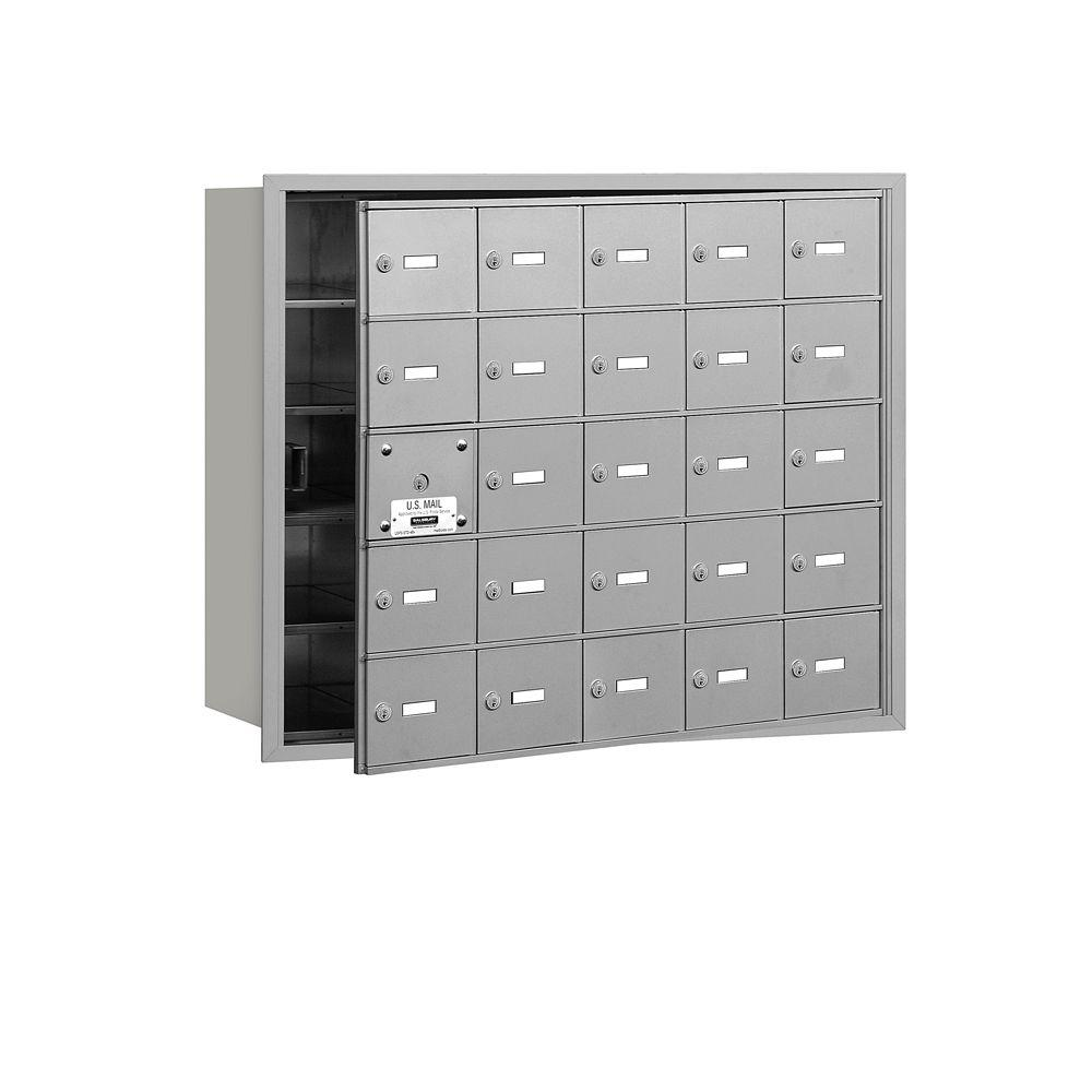Aluminum USPS Access Front Loading 4B Plus Horizontal Mailbox with 25A
