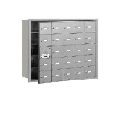 Aluminum USPS Access Front Loading 4B Plus Horizontal Mailbox with 25A Doors (24 Usable)