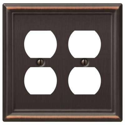 Chelsea 2 Duplex Wall Plate - Aged Bronze