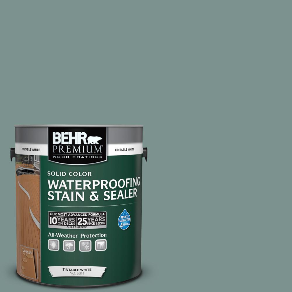 BEHR Premium 1 gal. #SC-119 Colony Blue Solid Color Waterproofing Stain and Sealer