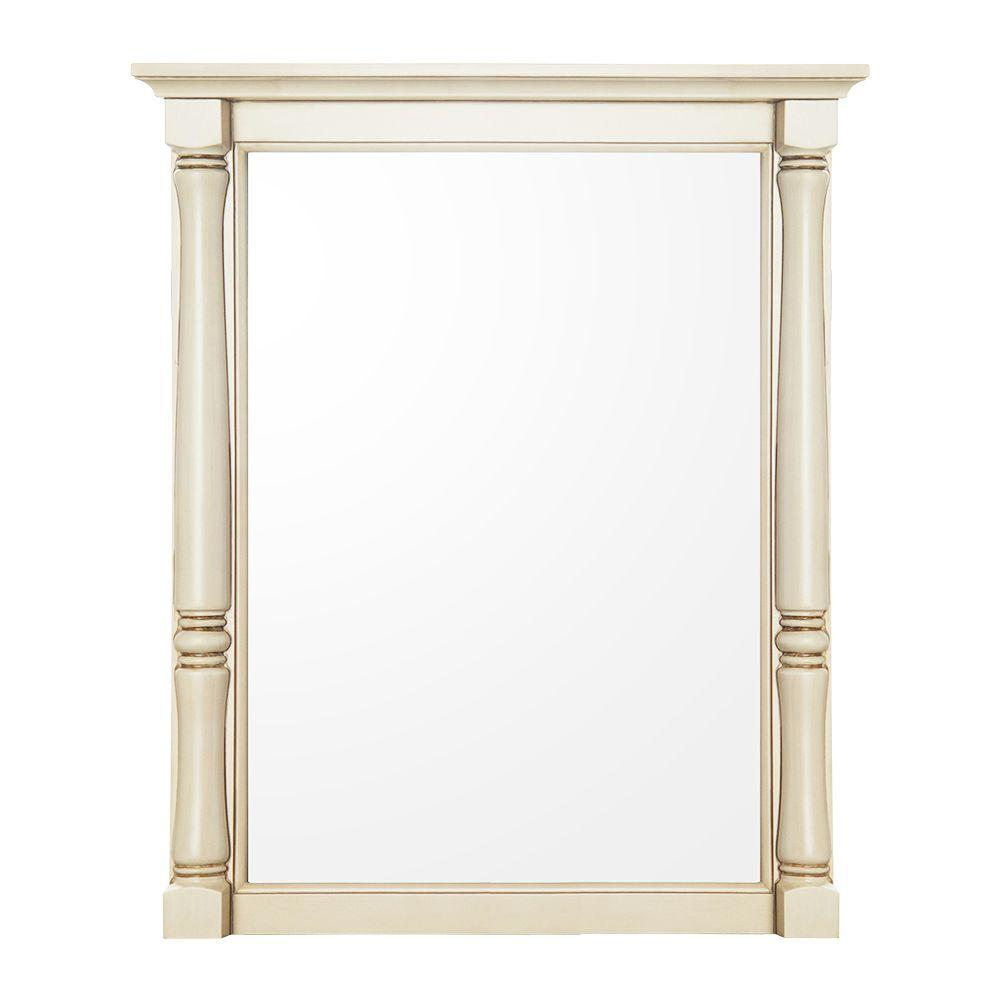 Albertine 30 in. L x 24 in. W Framed Wall Mirror