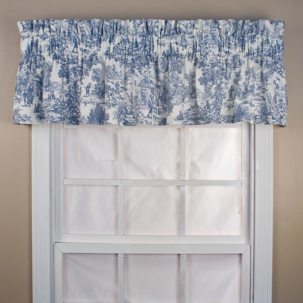 Ellis Curtain Victoria Park Toile 12 In L Cotton Tailored Valance