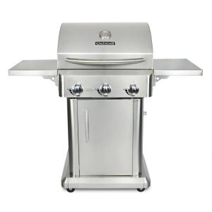 Chef's Grill 3-Burner Propane Gas Grill in Stainless Steel with Folding Side Shelves by Chef's Grill