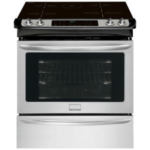Click here to buy Frigidaire Gallery 4.6 cu. ft. Slide-In Induction Range with Self-Cleaning Convection Oven in Stainless Steel by Frigidaire Gallery.