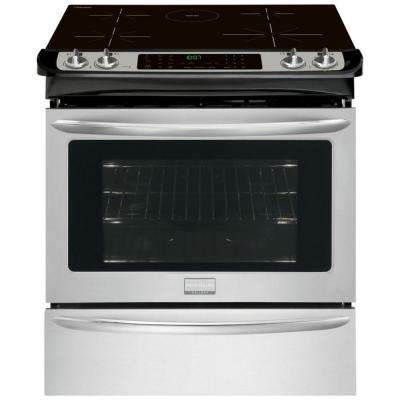 4.6 cu. ft. Slide-In Induction Range with Self-Cleaning Convection Oven in Stainless Steel