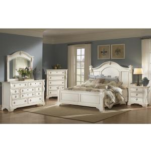 e190d6db7e7 Internet  303949517. +4. American Woodcrafters Heirloom Antique White Queen  Poster Bed