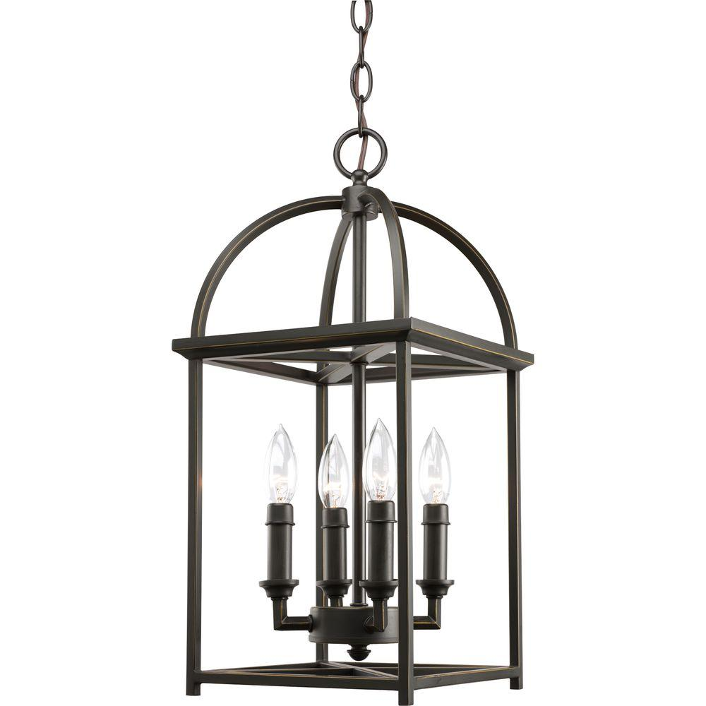 progress lighting piedmont collection 4 light antique bronze foyer