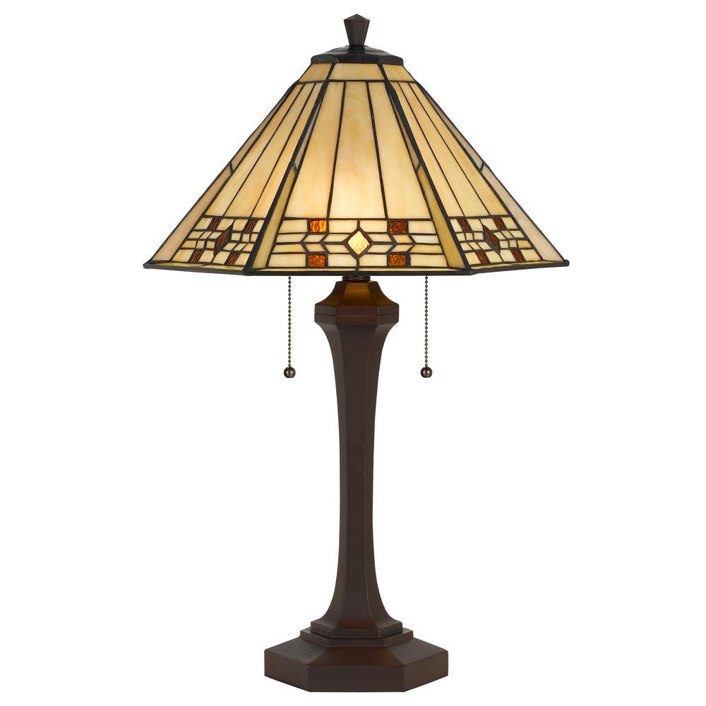 Cal Lighting 26 In Matte Black Metal Table Lamp With