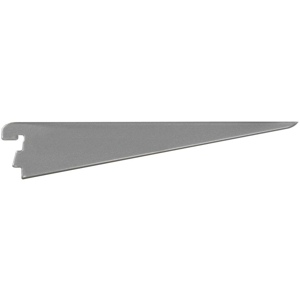 Rubbermaid 11.5 in. Satin Nickel Twin Track Bracket for Wood or Wire Shelving