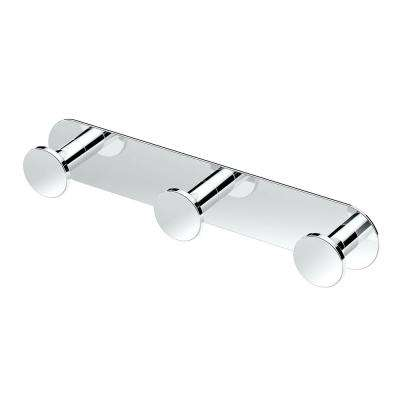Glamour Triple Robe Hook in Chrome