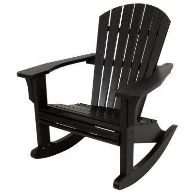 Seashell Black Patio Rocker