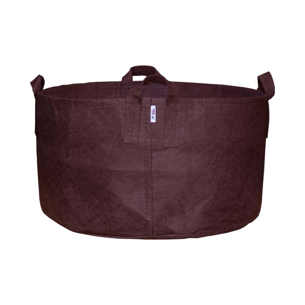 Root Pouch 65 Gal. Breathable Boxer Brown Fabric Planting Containers and Pots with Handles Planter (1-Pack)