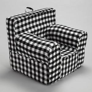 Magnificent Pdc Furniture Oversize Kids Foam Chair With Black Gingham Andrewgaddart Wooden Chair Designs For Living Room Andrewgaddartcom