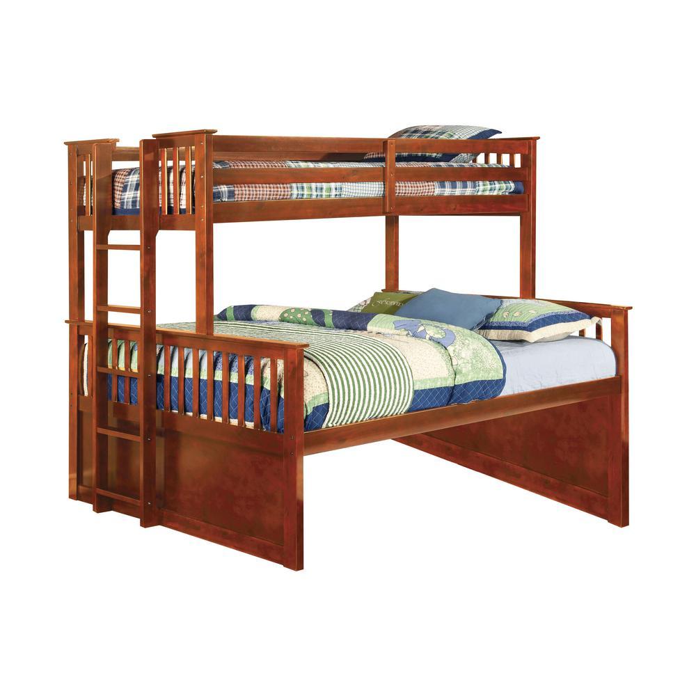 Oak University Twin Xl and Queen Bunk Bed