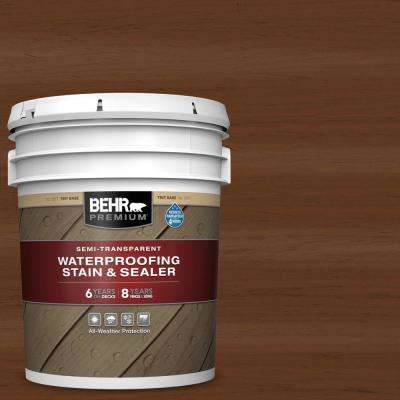 5 gal. #ST-110 Chestnut Semi-Transparent Waterproofing Exterior Wood Stain and Sealer