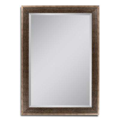 30 in. W x 42 in. H Driftwood Bronze Wall Mirror