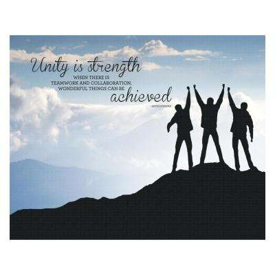 "22 in. x 28 in. ""Unity"" Printed Canvas Wall Art"