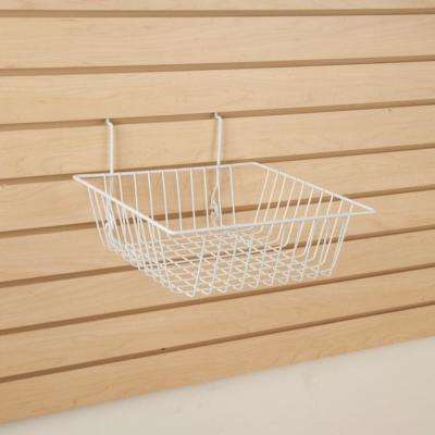 12 in. W x 12 in. D x 4 in. H White Small Basket