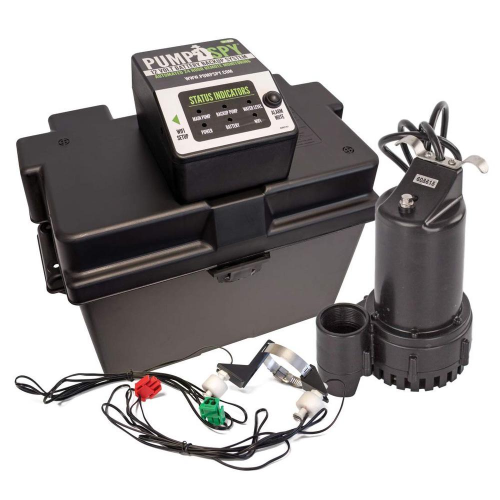 PumpSpy 1/2 HP Submersible 12-Volt DC WiFi Connected