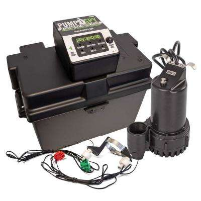 1/2 HP Submersible 12-Volt DC WiFi Connected Battery Backup Sump Pump and Monitoring System