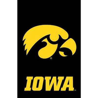 NCAA 12-1/2 in. x 18 in. Iowa 2-Sided Garden Flag