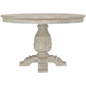 Home Decorators Collection Kingsley Sandblasted White Round Dining Table-9690100980