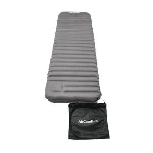 Air Comfort Roll & Go Inflatable Sleeping Pad - Large (Grey) by Air Comfort