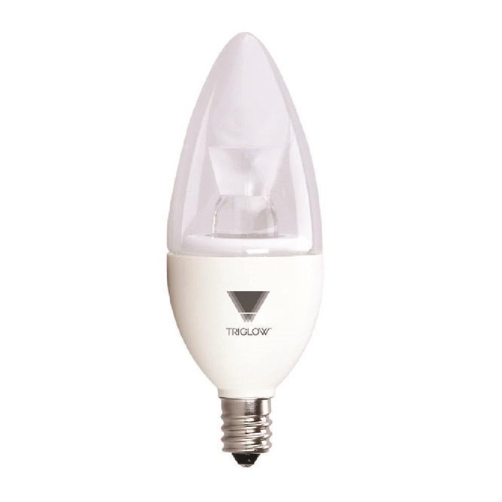 TriGlow 40-Watt Equivalent B11 Dimmable E12 Candelabra LED