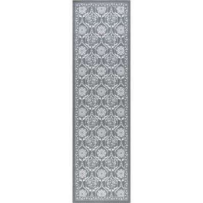 Majesty Charcoal 2 ft. x 11 ft. Transitional Runner Rug
