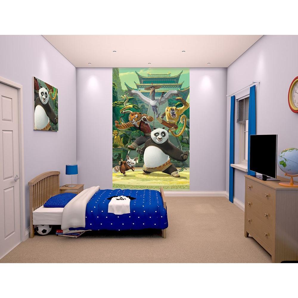 60 in. H x 96 in. W Kung Fu Panda Wall Mural