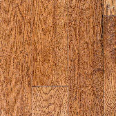 Oak Golden Wheat Hand Sculpted 3/4 in. Thick x 4 in. Wide x Random Length Solid Hardwood Flooring (16 sq. ft. / case)