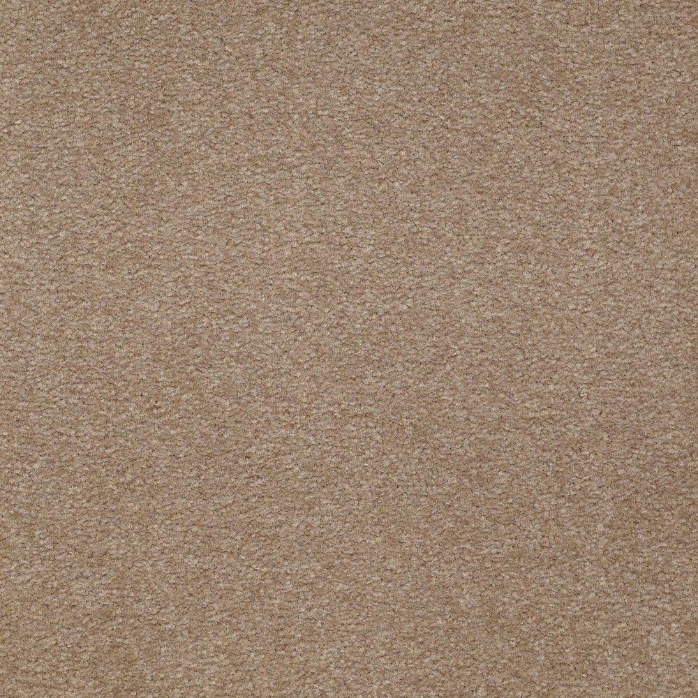 Carpet Sample - Overdrive II - Color Buckskin Texture 8 in. x 8 in.