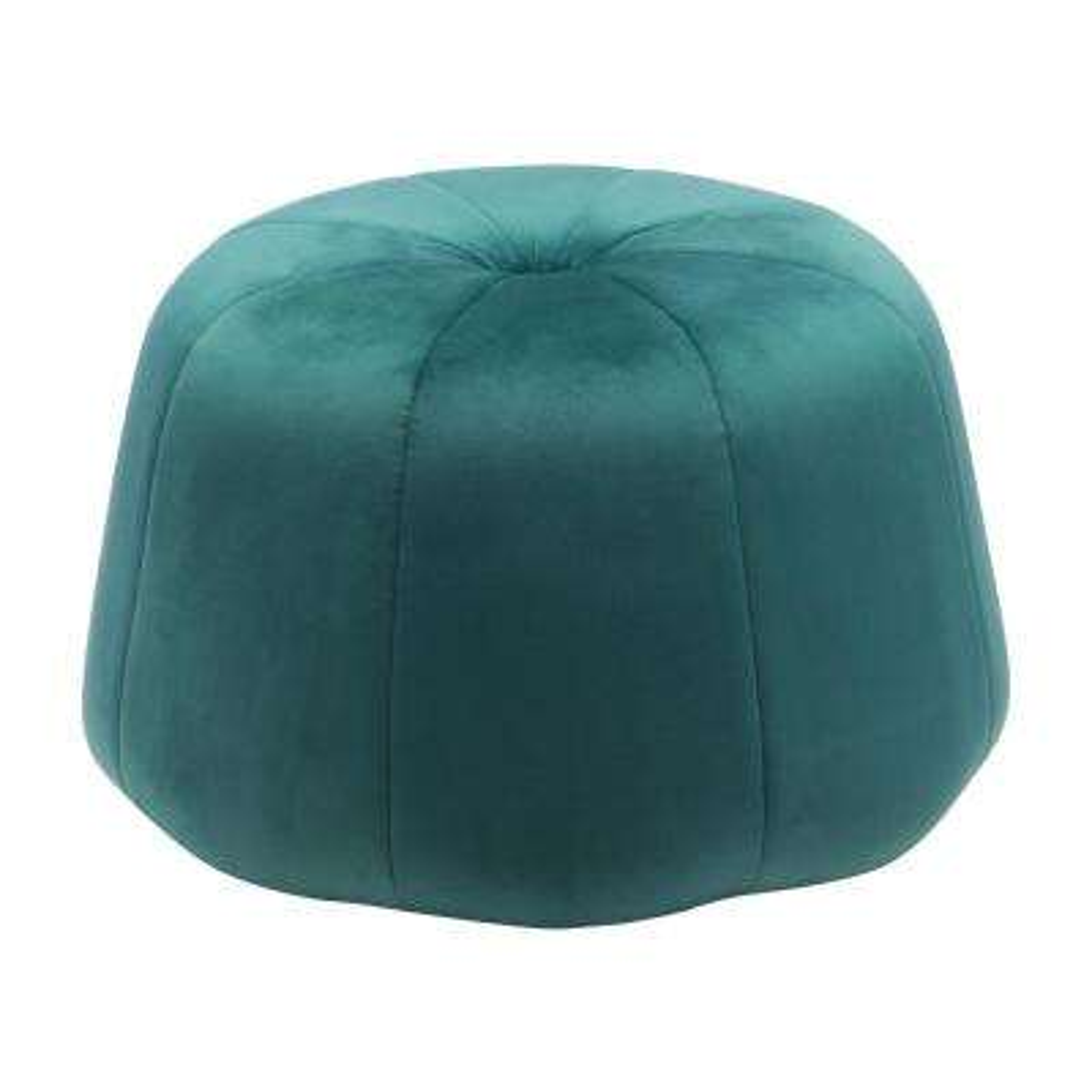 Dulcet Green Velvet Accent Ottoman