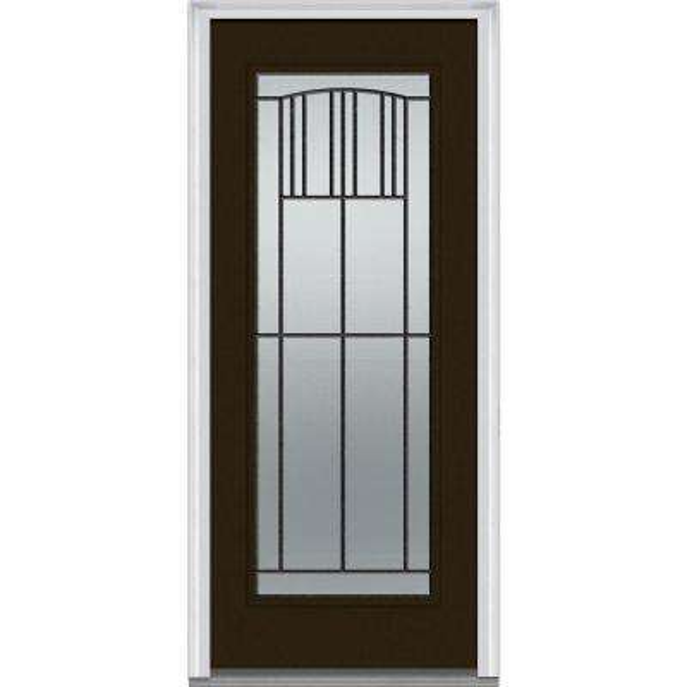 32 X 80 Wrought Iron Doors With Glass Steel Doors The Home Depot