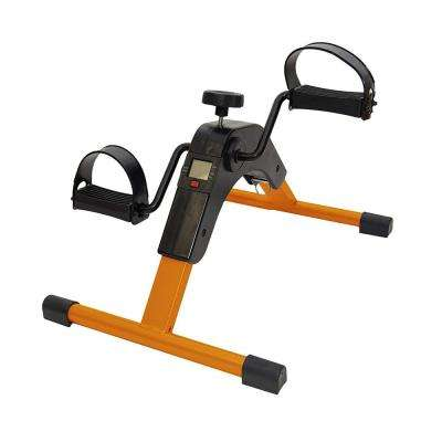 Foldable Orange Pedal Exerciser with Digital Display