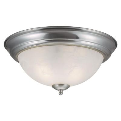 Millbridge 2-Light Satin Nickel Ceiling Semi Flush Mount Light